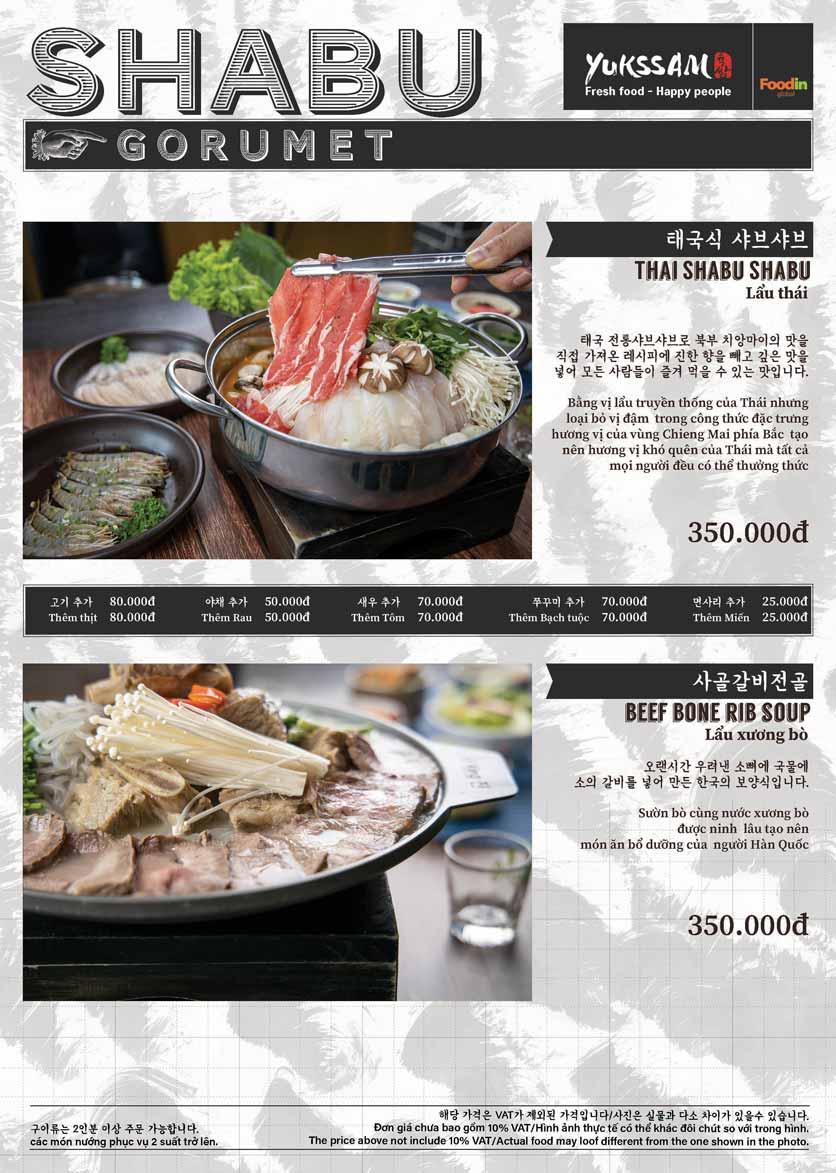 Menu Yukssam BBQ - Trần Thái Tông  9