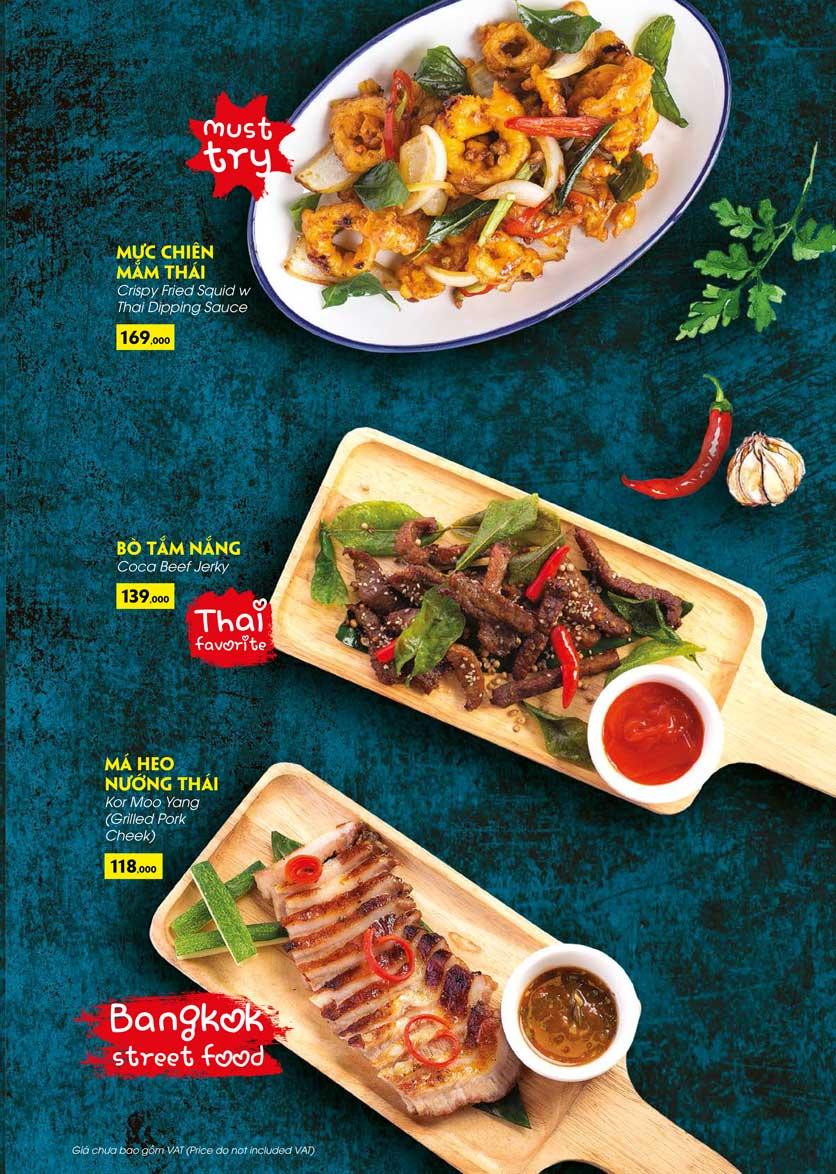 Menu COCA Restaurant - Nhà hàng lẩu Thái - Láng Hạ 18