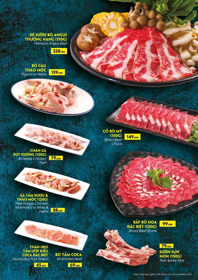 Menu COCA Restaurant - Nhà hàng lẩu Thái - Láng Hạ 28