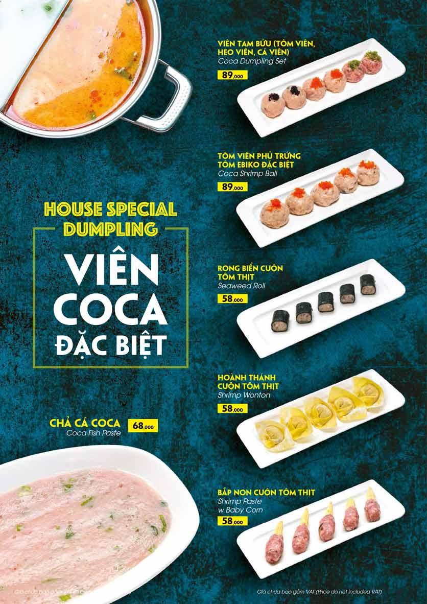 Menu COCA Restaurant - Nhà hàng lẩu Thái - Láng Hạ 29
