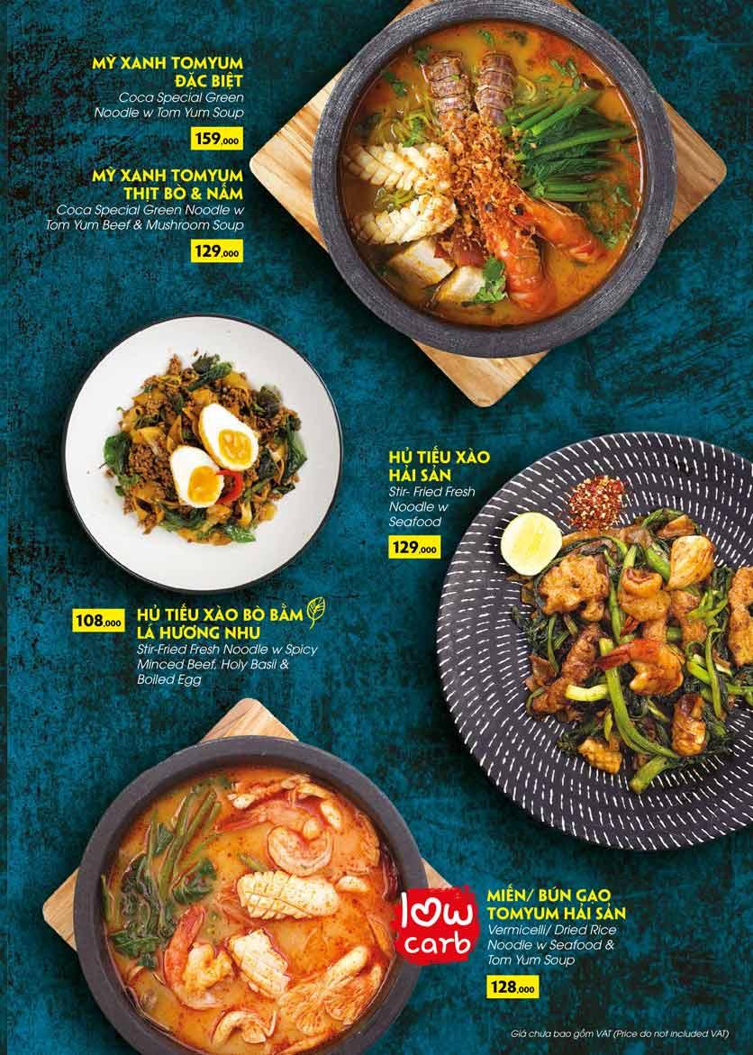 Menu COCA Restaurant - Nhà hàng lẩu Thái - Láng Hạ 36