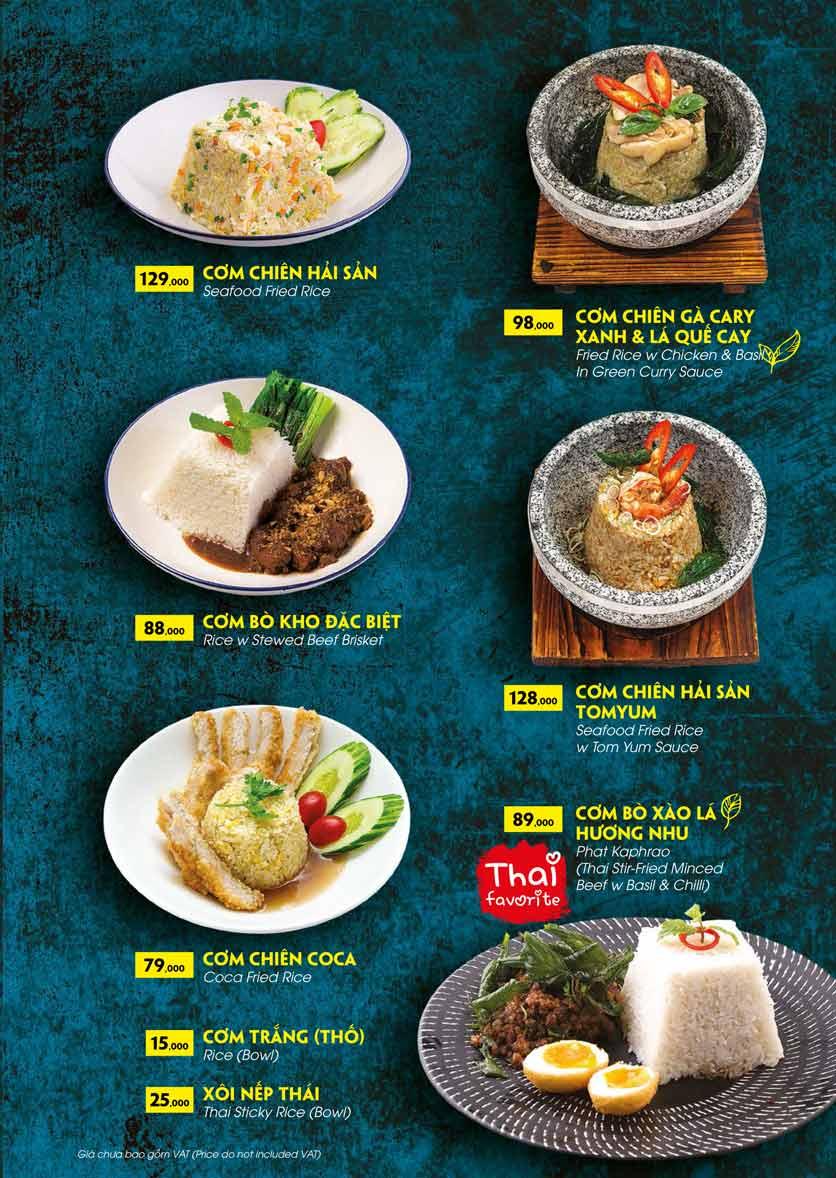 Menu COCA Restaurant - Nhà hàng lẩu Thái - Láng Hạ 38