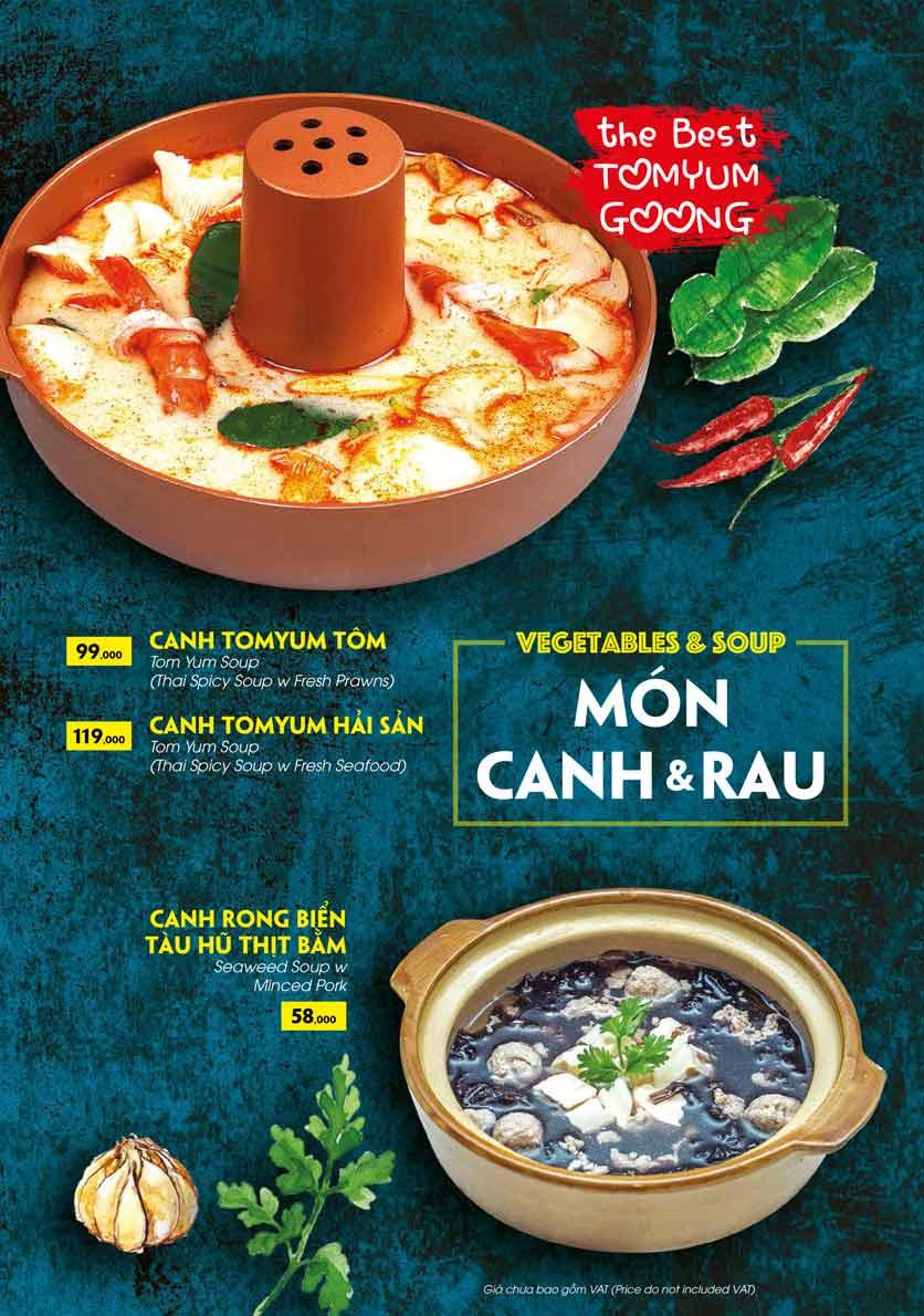 Menu COCA Restaurant - Nhà hàng lẩu Thái - Láng Hạ 39