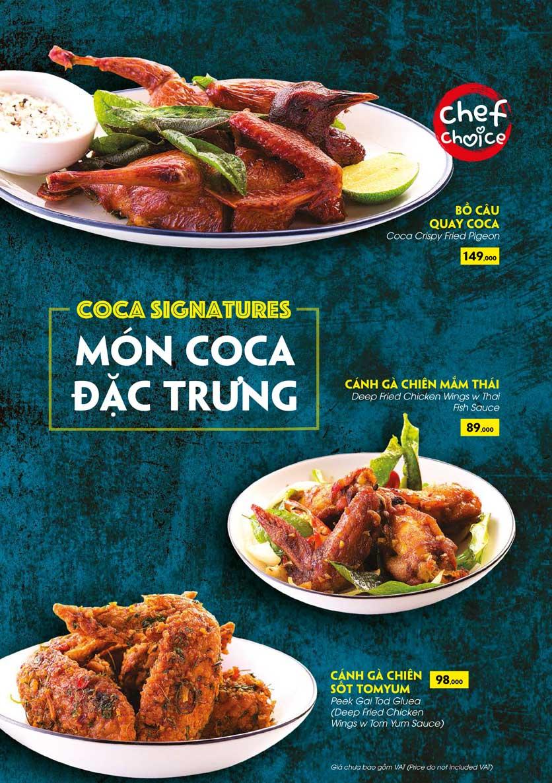 Menu COCA Restaurant - Nhà hàng lẩu Thái - Láng Hạ 15