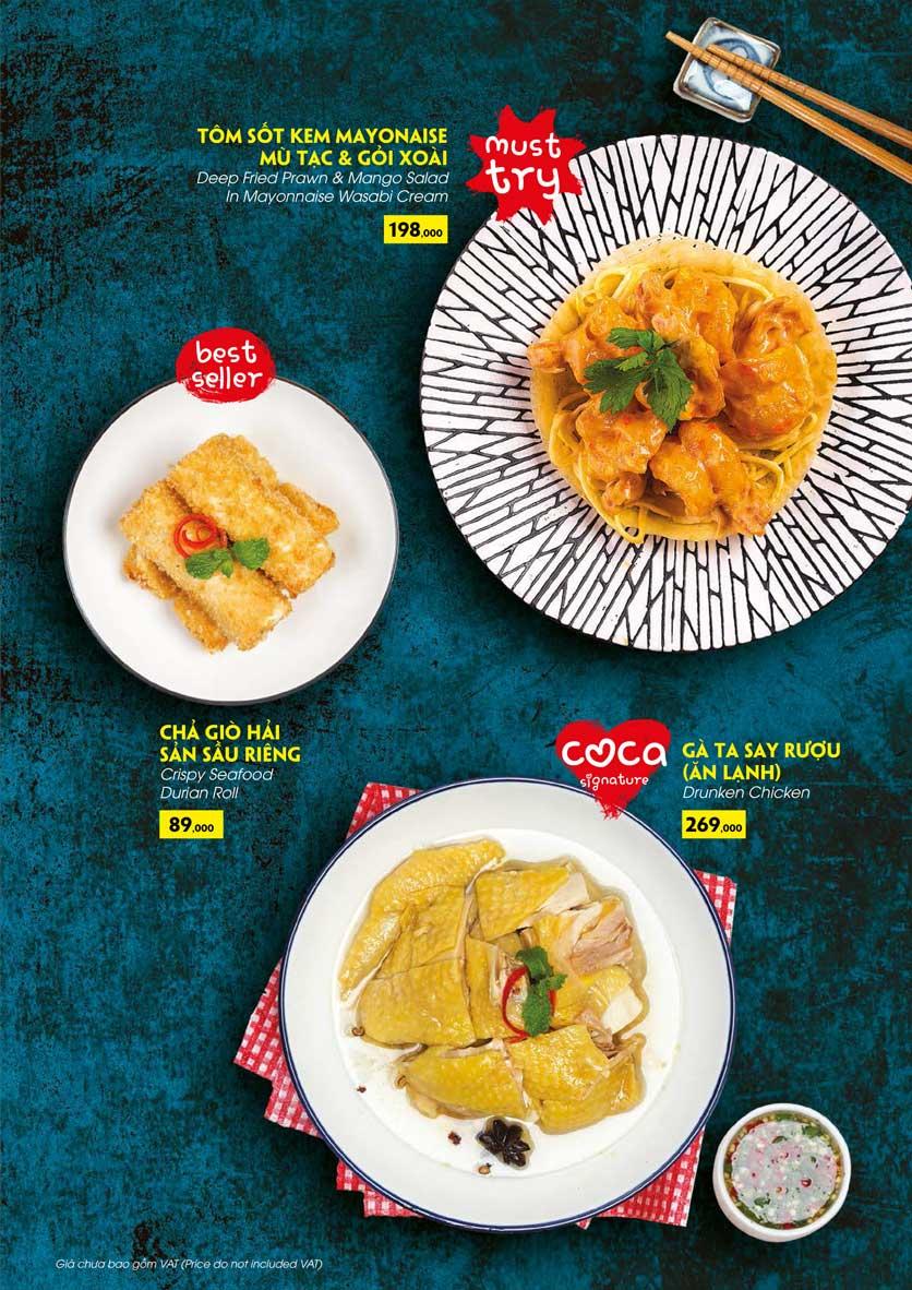 Menu COCA Restaurant - Nhà hàng lẩu Thái - Láng Hạ 16