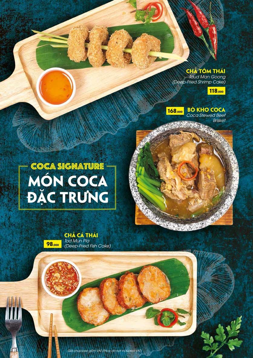Menu COCA Restaurant - Nhà hàng lẩu Thái - Láng Hạ 17