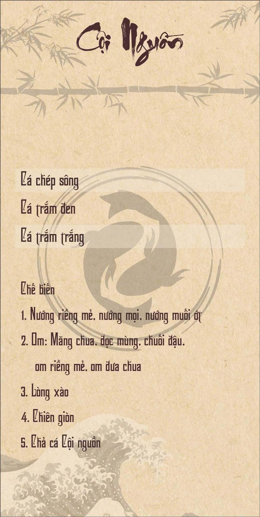 Menu Cội Nguồn – Nam Trung Yên 6