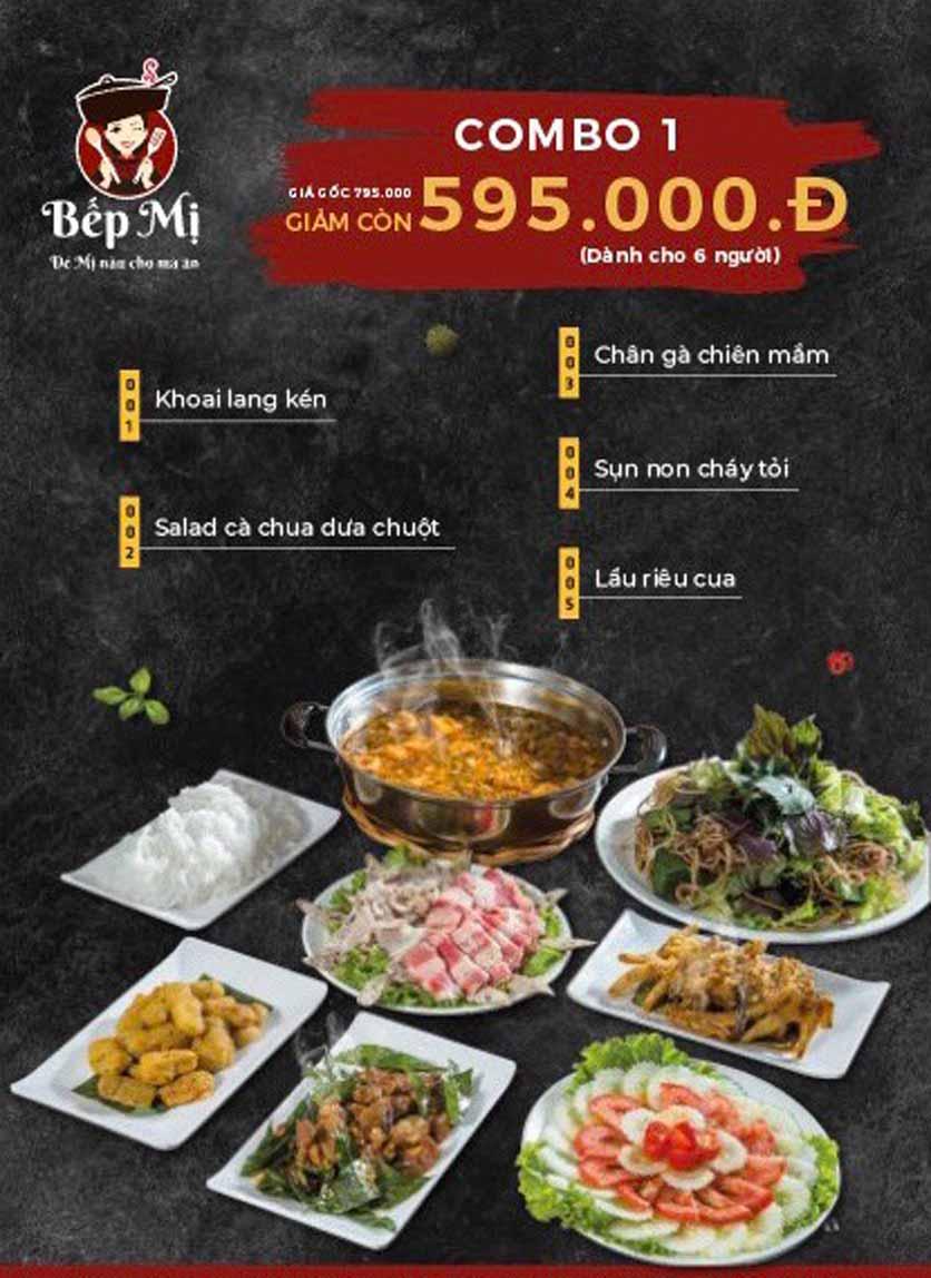 Menu Bếp Mị - Nguyễn Lương Bằng 1