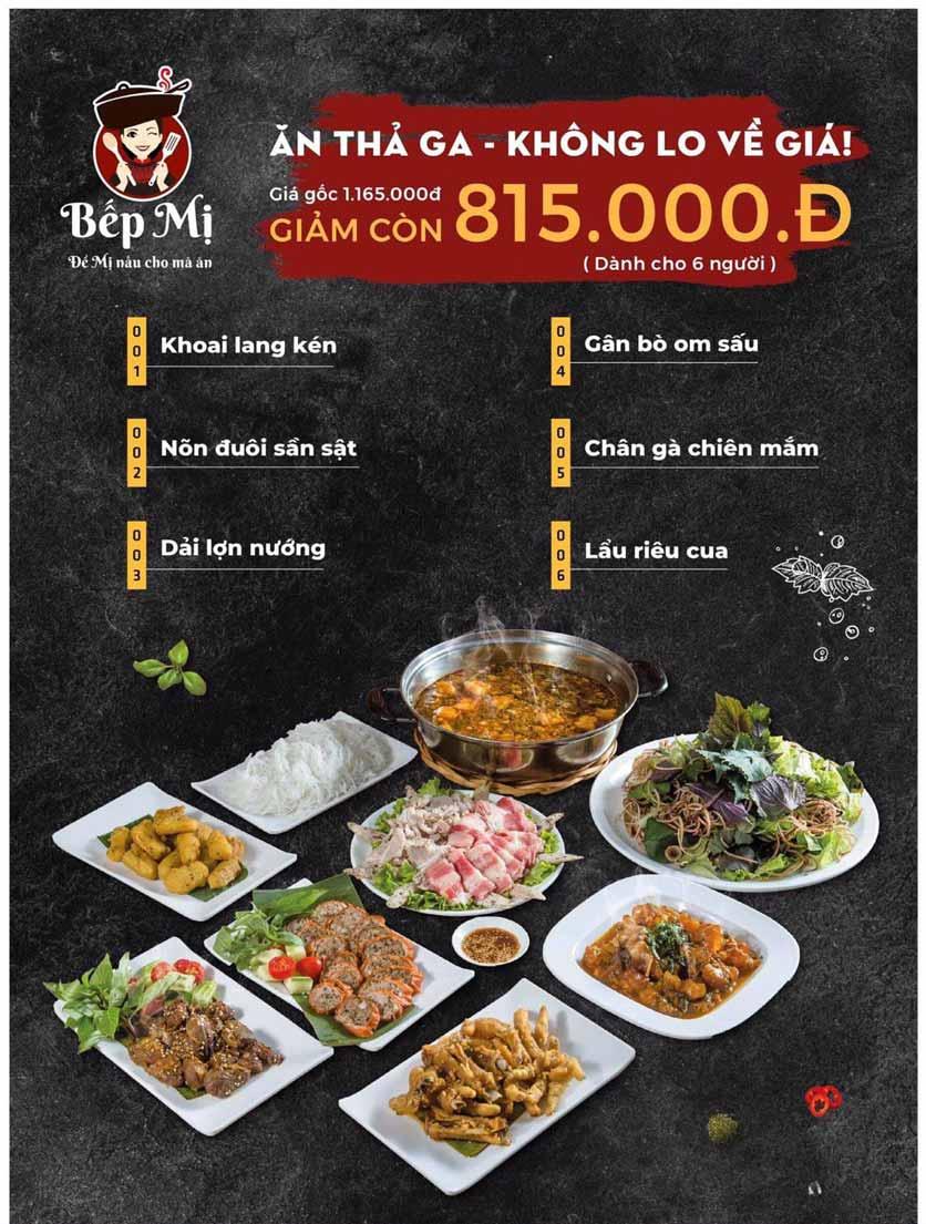 Menu Bếp Mị - Nguyễn Lương Bằng 2