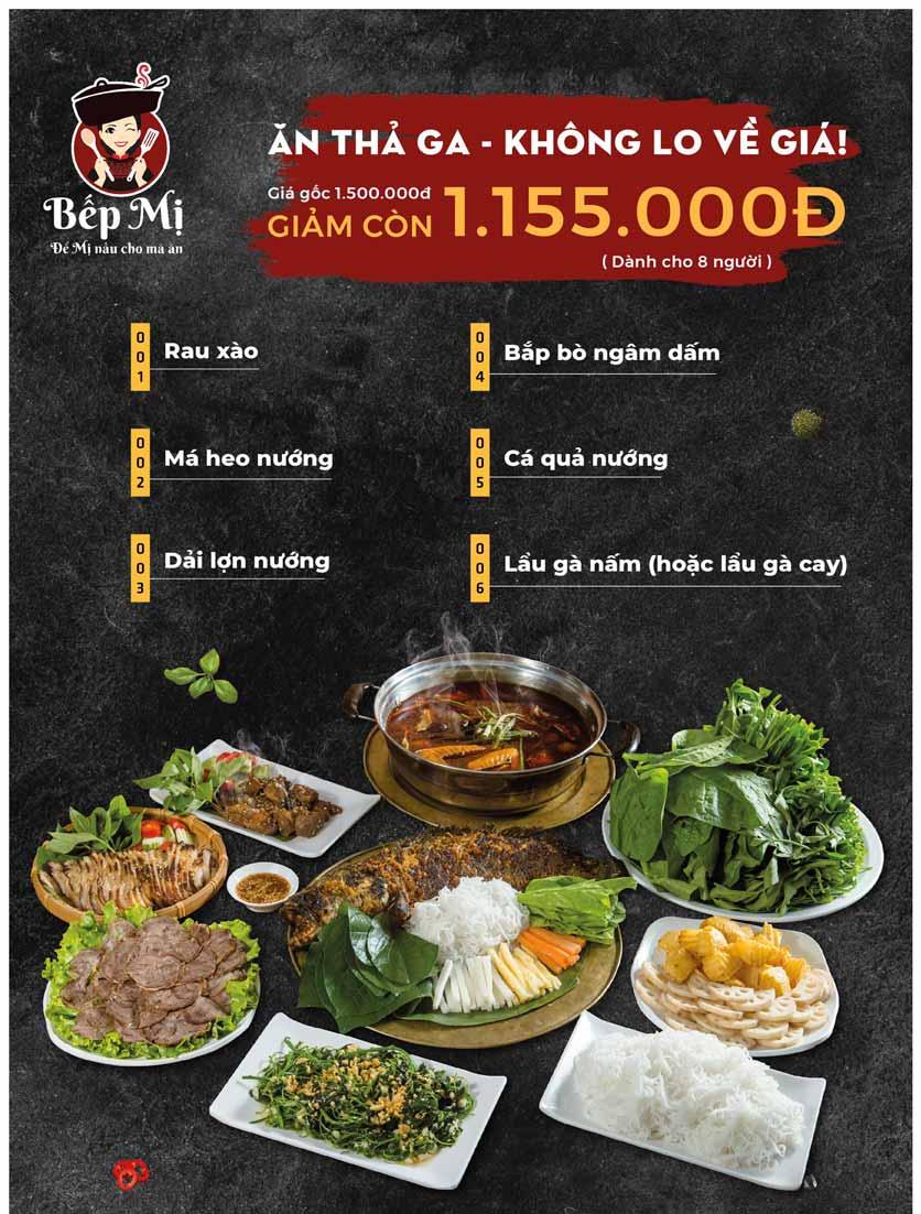 Menu Bếp Mị - Nguyễn Lương Bằng 3