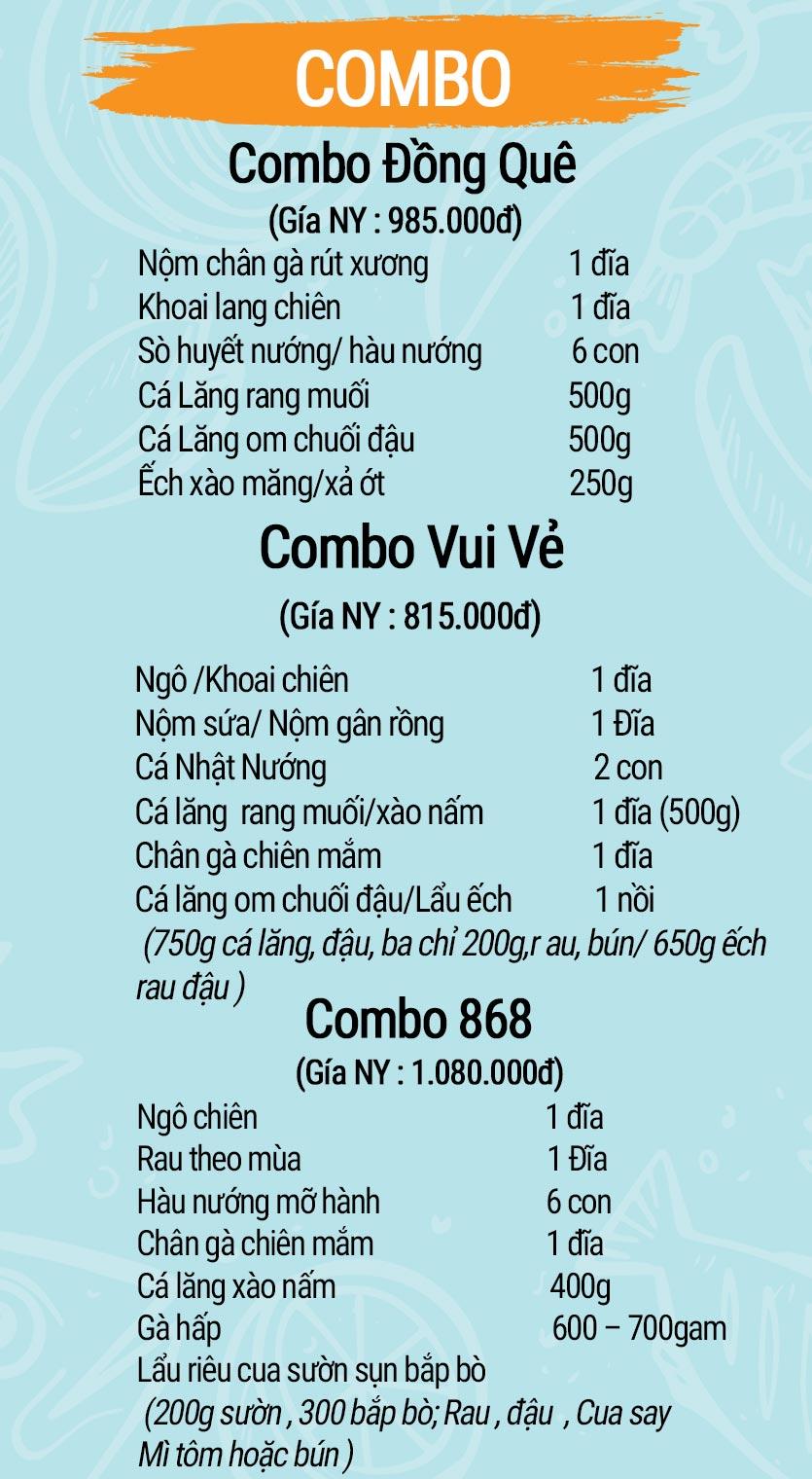 Menu Mê + -  Nguyễn Hoàng 1