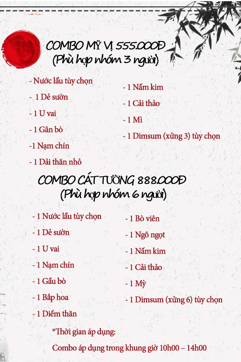 Menu Lẩu Bò Trung Hoa - Thái Hà  1