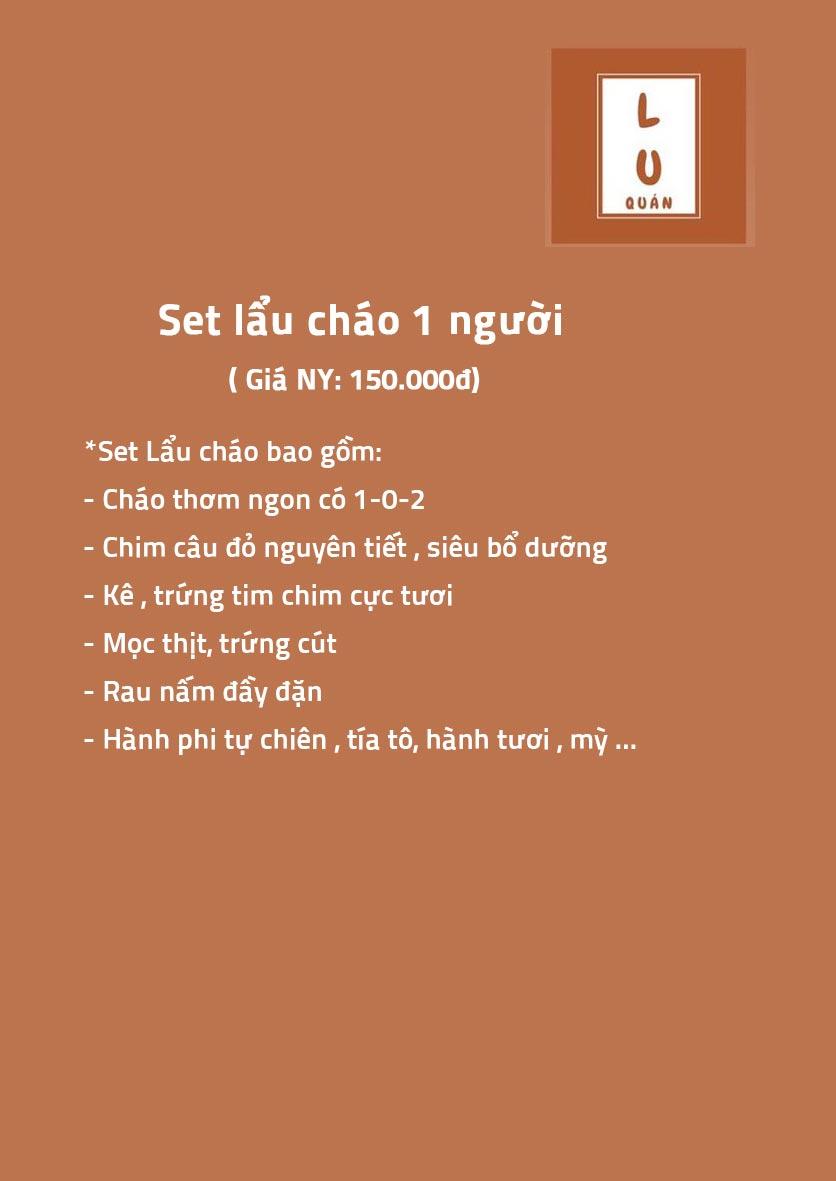 Menu Lu Quán - Đại Cồ Việt 1