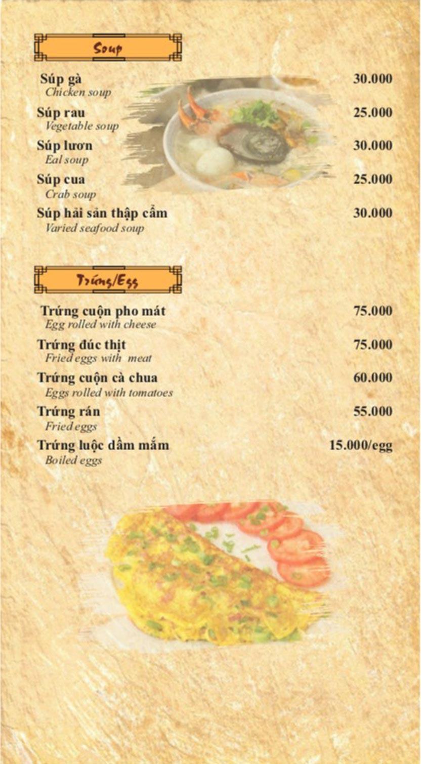 Menu Cơm Niêu 3 Cá Bống – Nguyễn Tri Phương 10