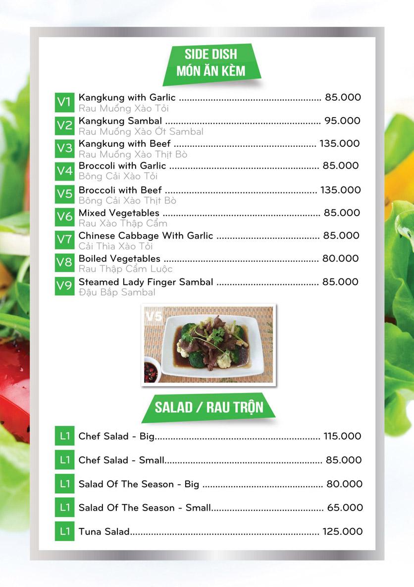 Menu Confidant Restaurant & Bar – Nhà hàng Tri Kỷ - Khu Hưng Gia 1 3
