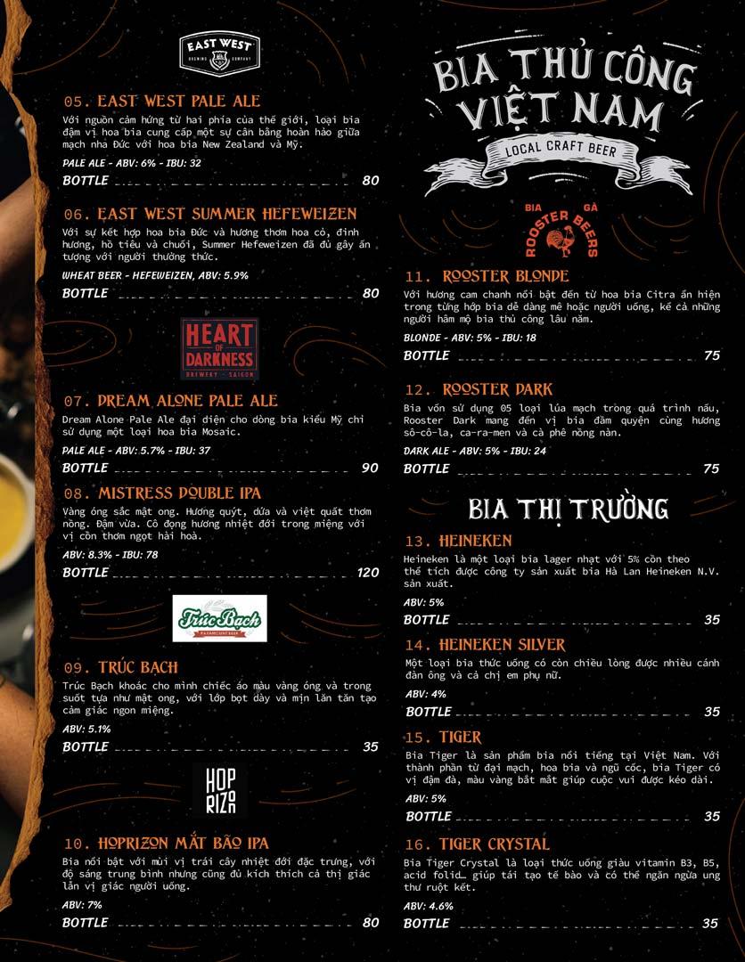 Menu Corner308 Cuisine & Live Music - Điện Biên Phủ   20
