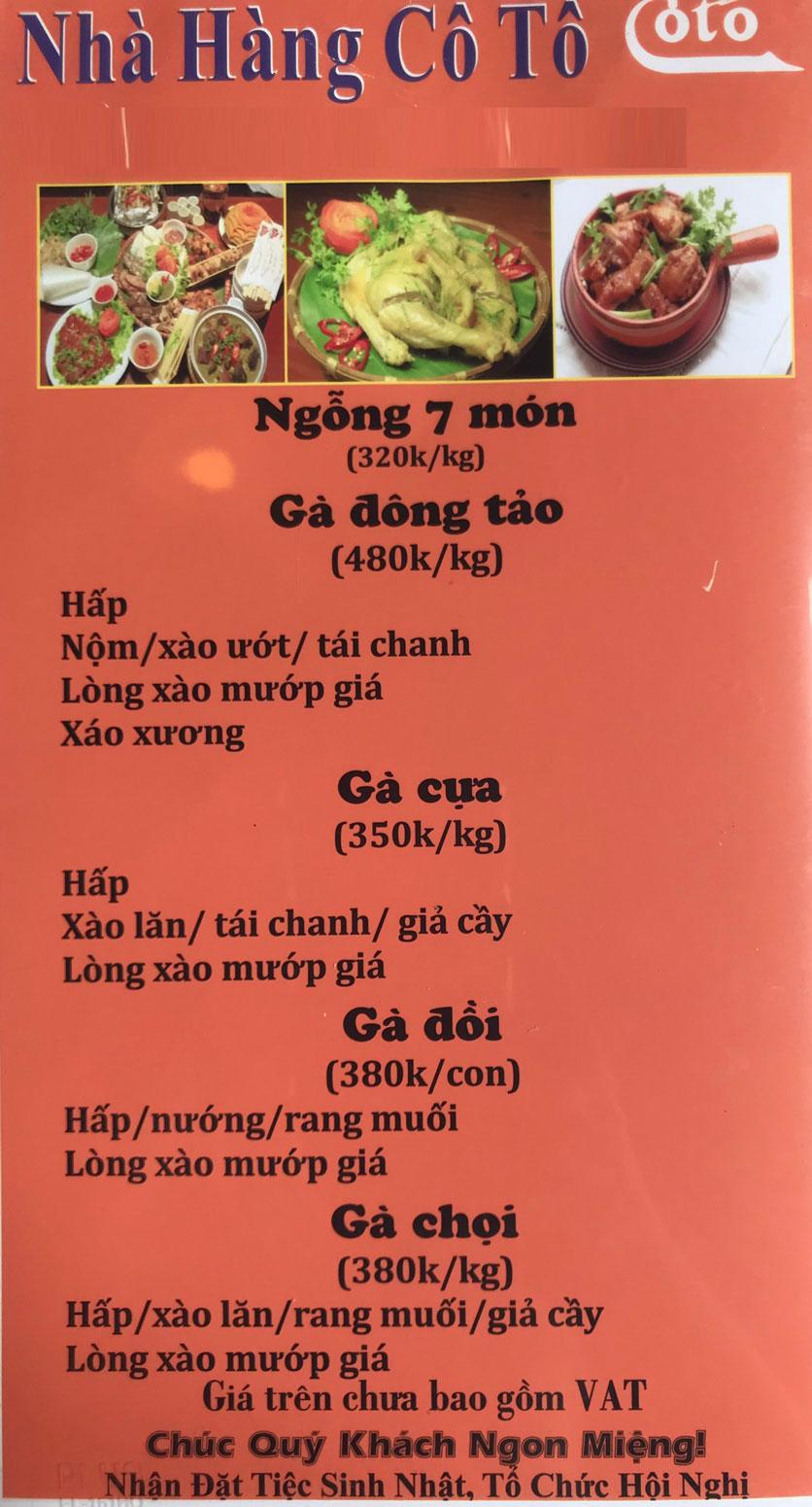 Menu Cô Tô - Nguyễn Khang 10
