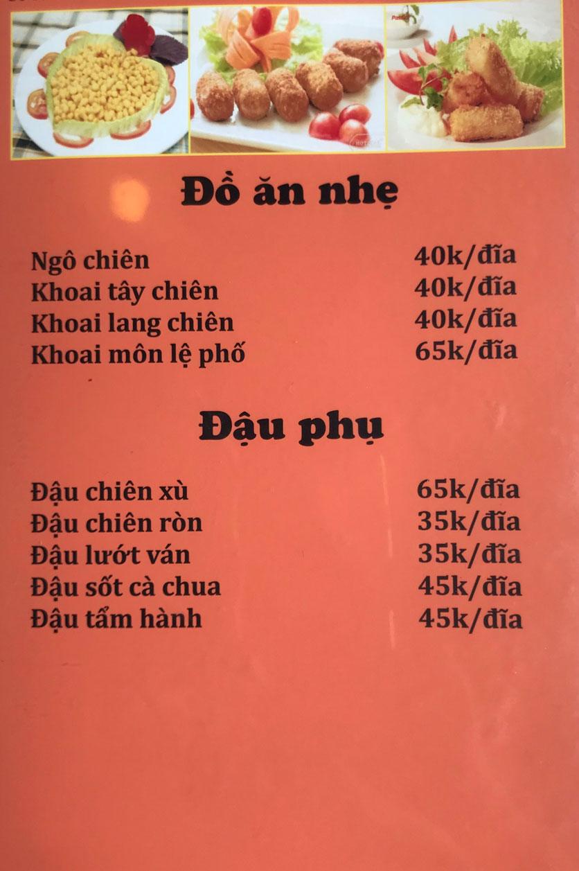 Menu Cô Tô - Nguyễn Khang 3