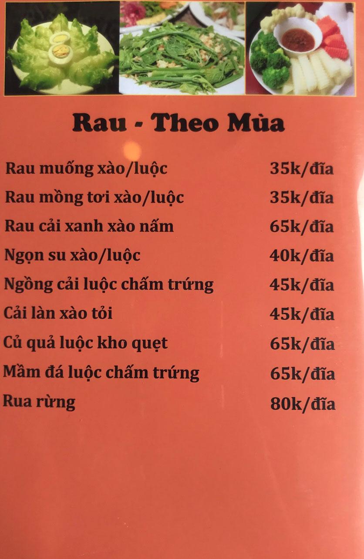 Menu Cô Tô - Nguyễn Khang 4