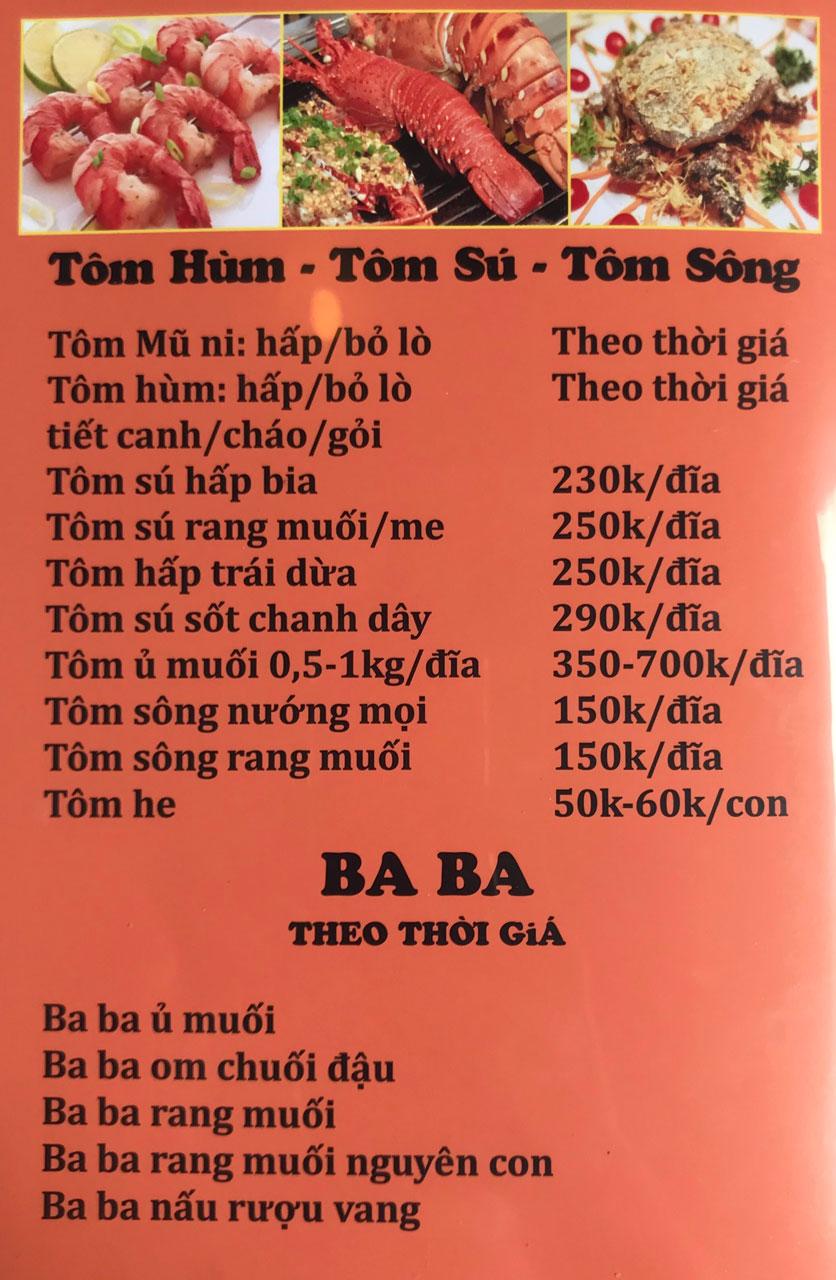 Menu Cô Tô - Nguyễn Khang 6