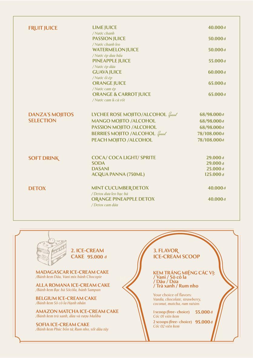 Menu Pasta Danza - Phan Chu Trinh 1