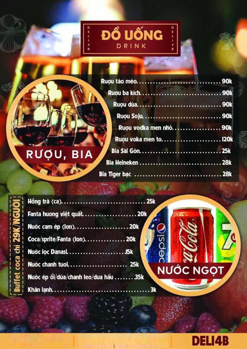 Menu Deli 4B BBQ & Hotpot - Nguyễn Văn Lộc 4