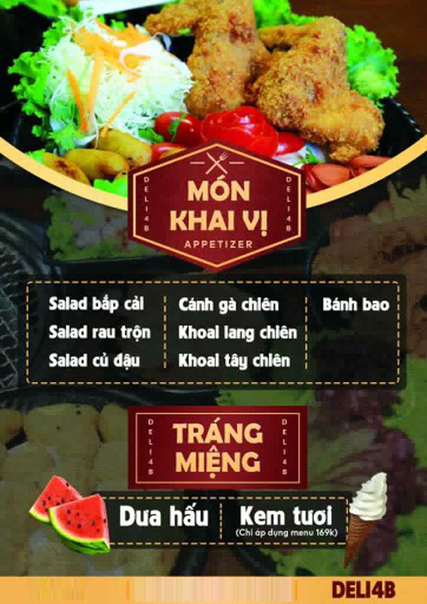 Menu Deli 4B BBQ & Hotpot - Nguyễn Văn Lộc 3