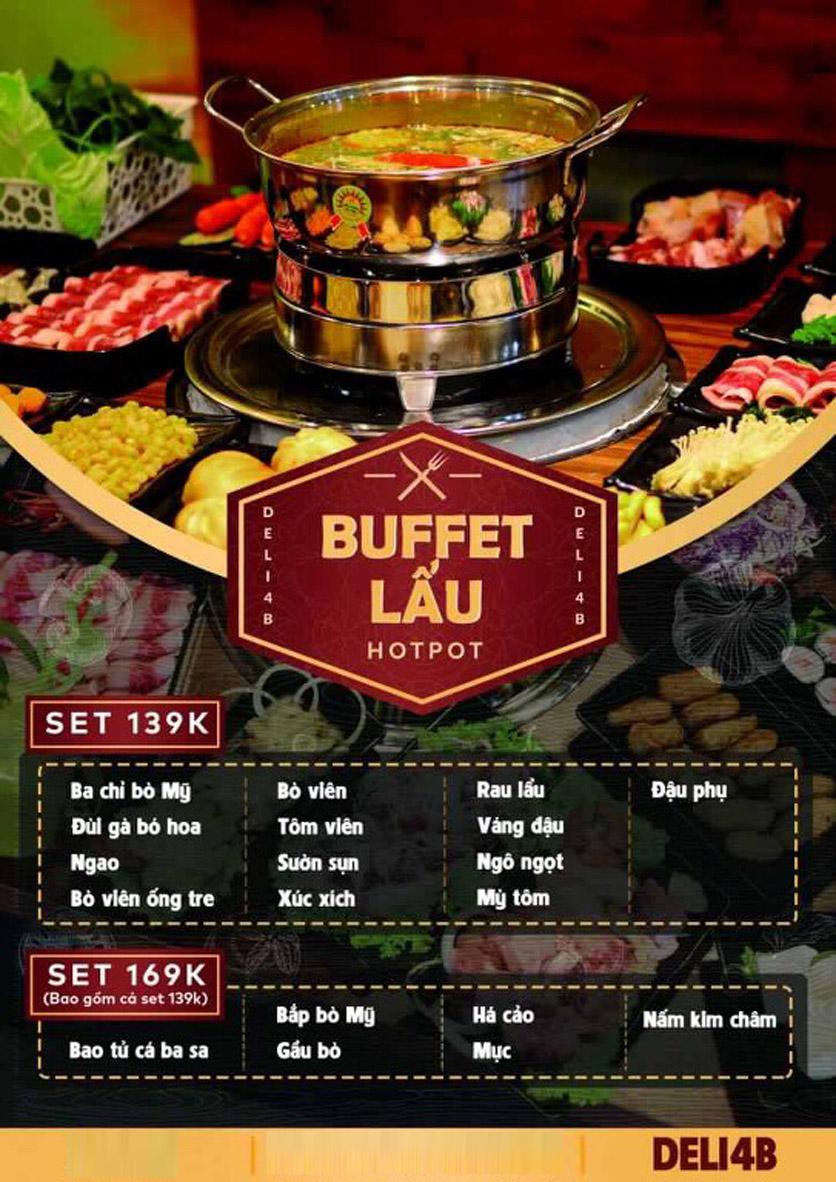 Menu Deli 4B BBQ & Hotpot - Nguyễn Văn Lộc 2