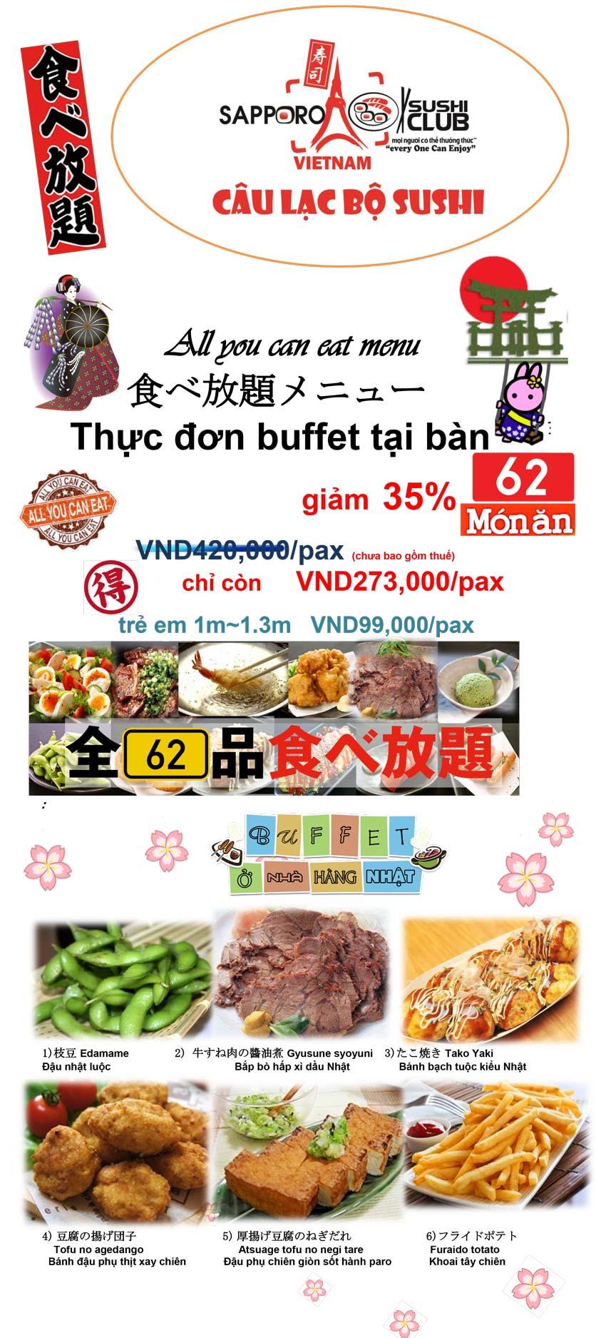 Menu Doki Doki Sushi Club - Nguyễn Hoàng 1