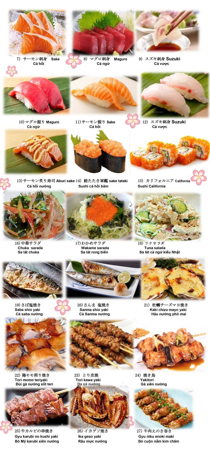 Menu Doki Doki Sushi Club - Nguyễn Hoàng 2