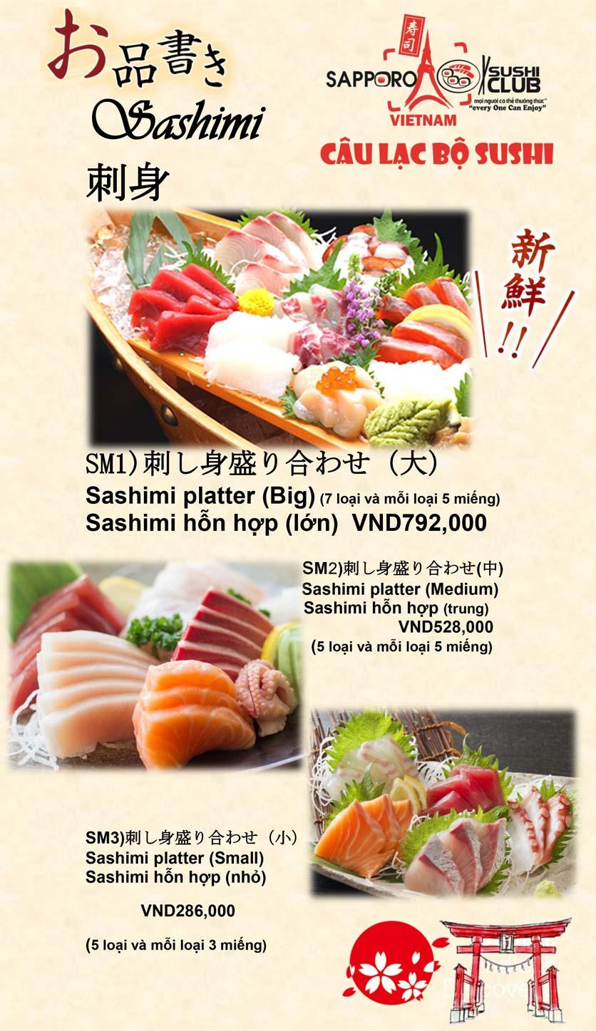 Menu Doki Doki Sushi Club - Nguyễn Hoàng 5