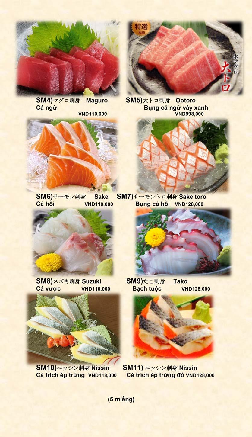 Menu Doki Doki Sushi Club - Nguyễn Hoàng 6