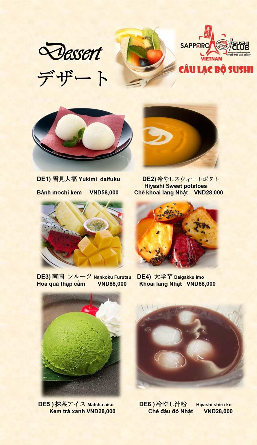 Menu Doki Doki Sushi Club - Nguyễn Hoàng 25