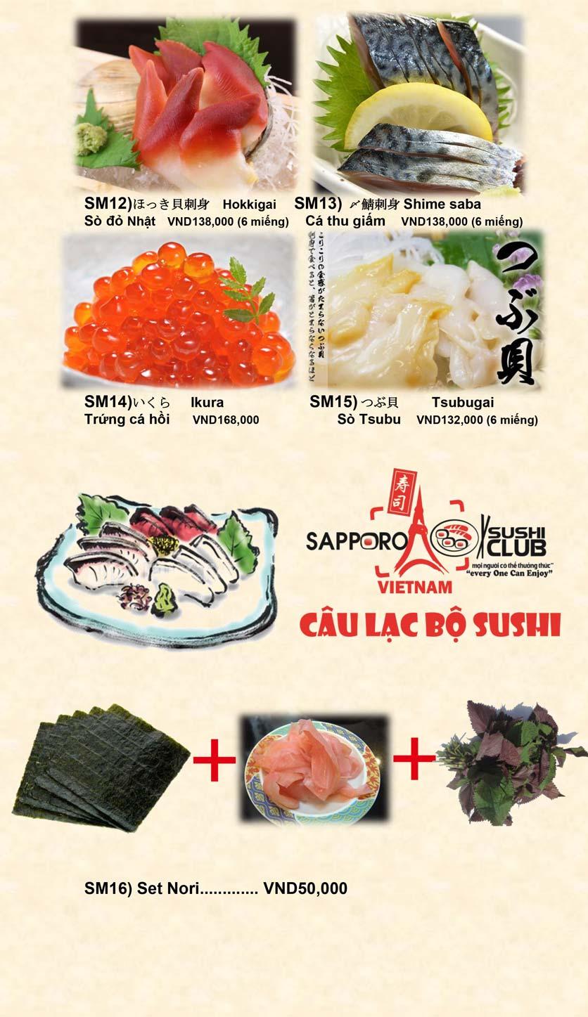 Menu Doki Doki Sushi Club - Nguyễn Hoàng 7