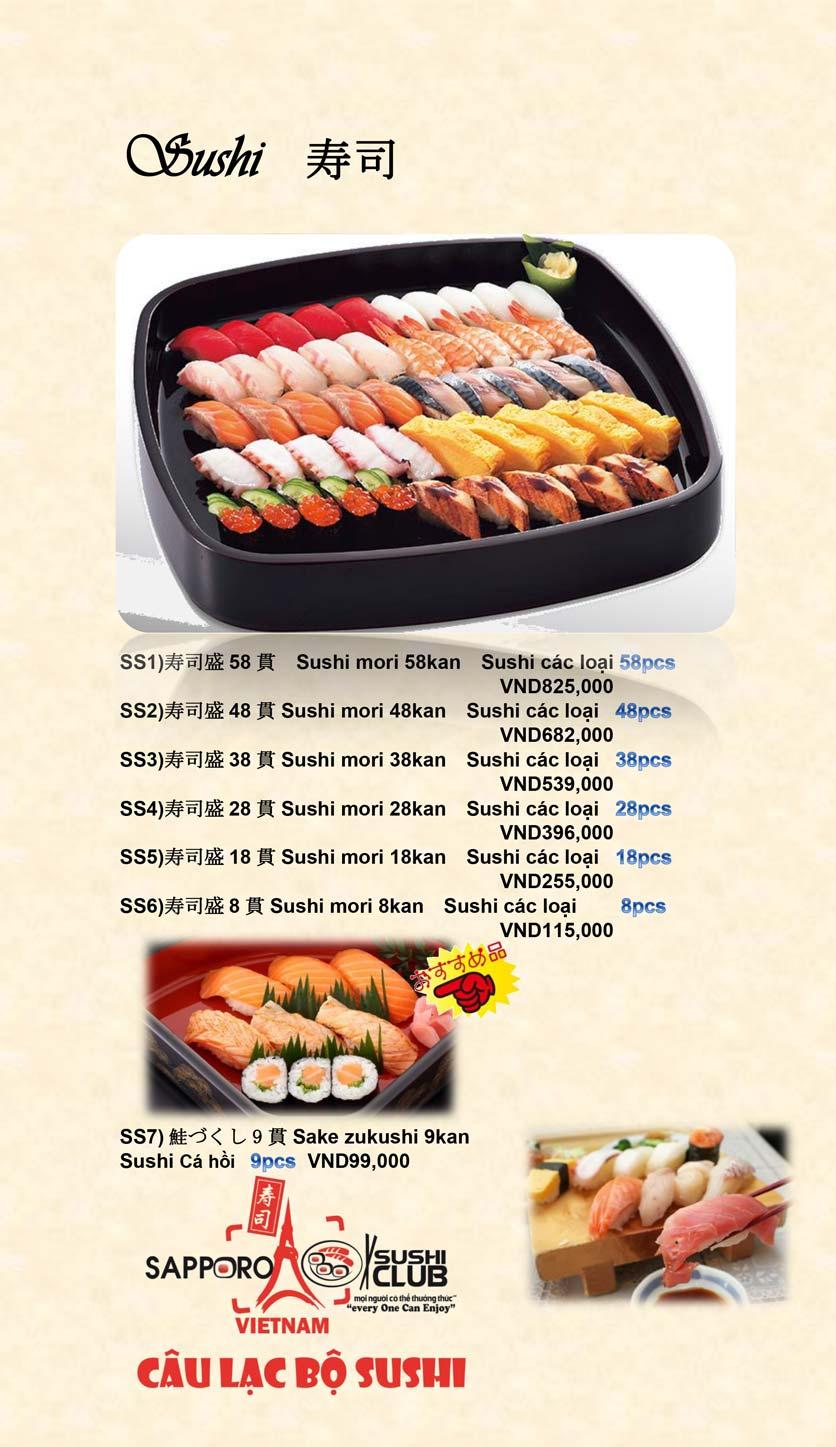 Menu Doki Doki Sushi Club - Nguyễn Hoàng 8