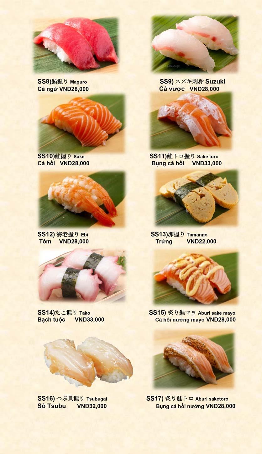 Menu Doki Doki Sushi Club - Nguyễn Hoàng 9