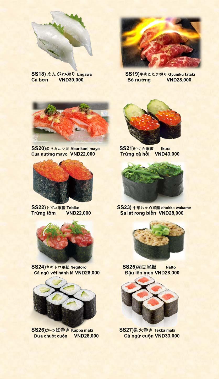 Menu Doki Doki Sushi Club - Nguyễn Hoàng 10