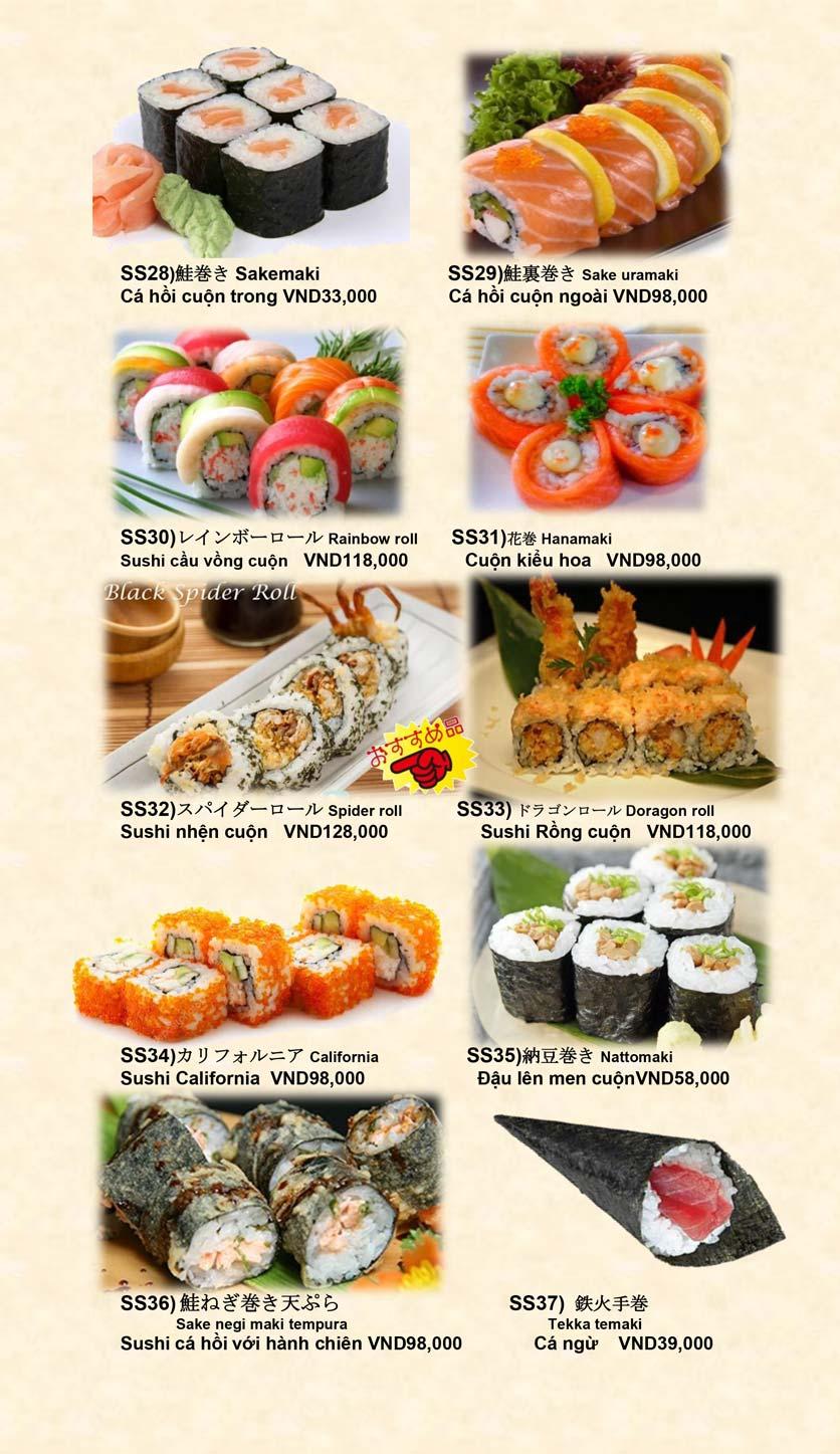 Menu Doki Doki Sushi Club - Nguyễn Hoàng 11