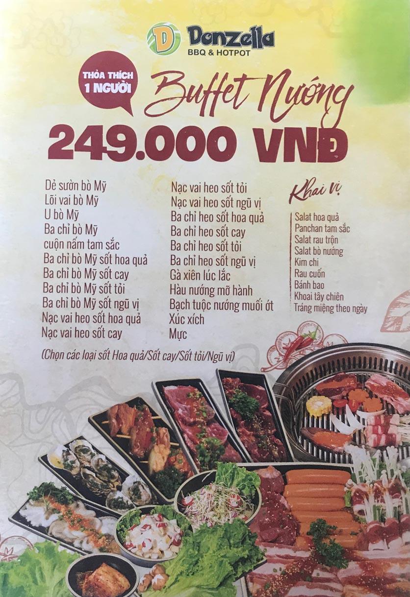 Menu Donzella BBQ & Hotpot - Kim Mã 5