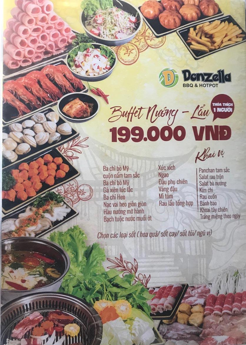 Menu Donzella BBQ & Hotpot - Kim Mã 6