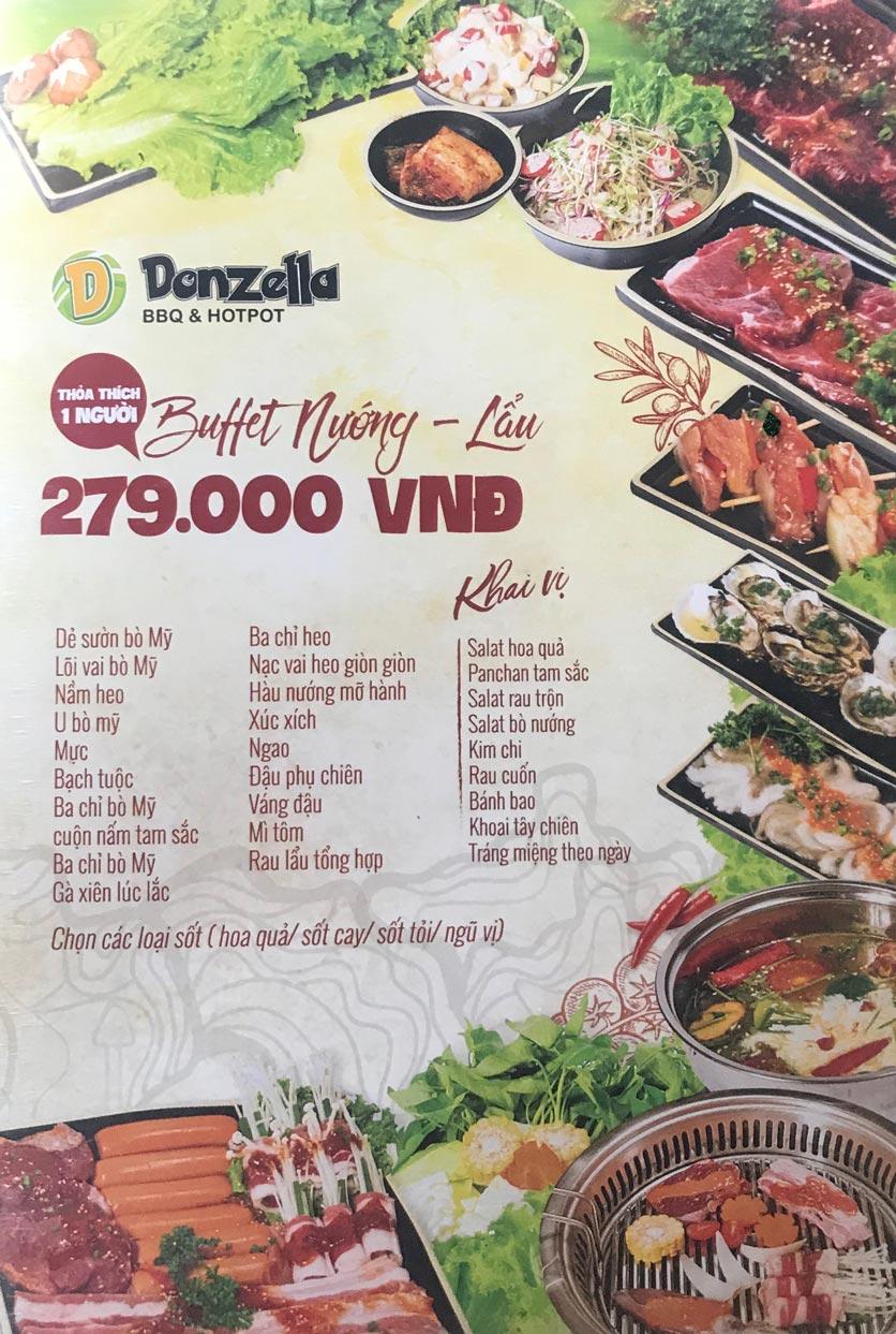 Menu Donzella BBQ & Hotpot - Đội Cấn 7