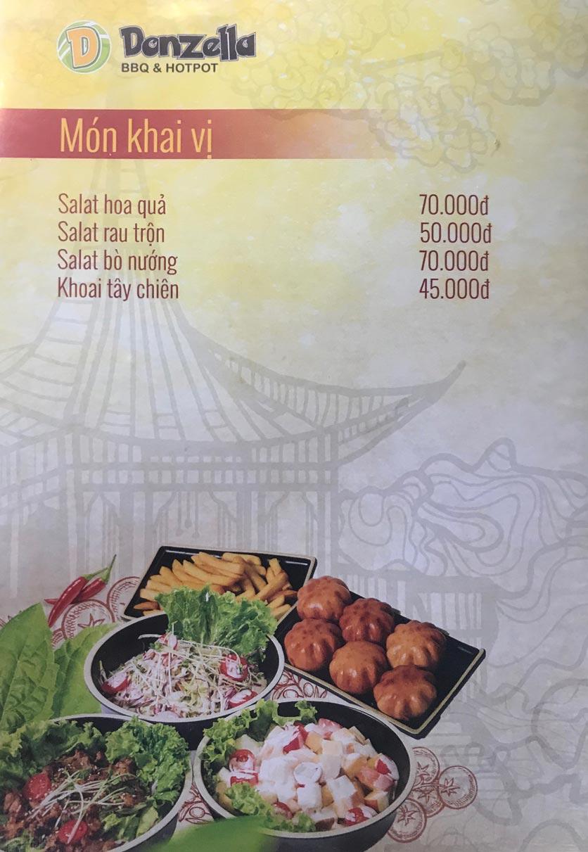 Menu Donzella BBQ & Hotpot - Kim Mã 8