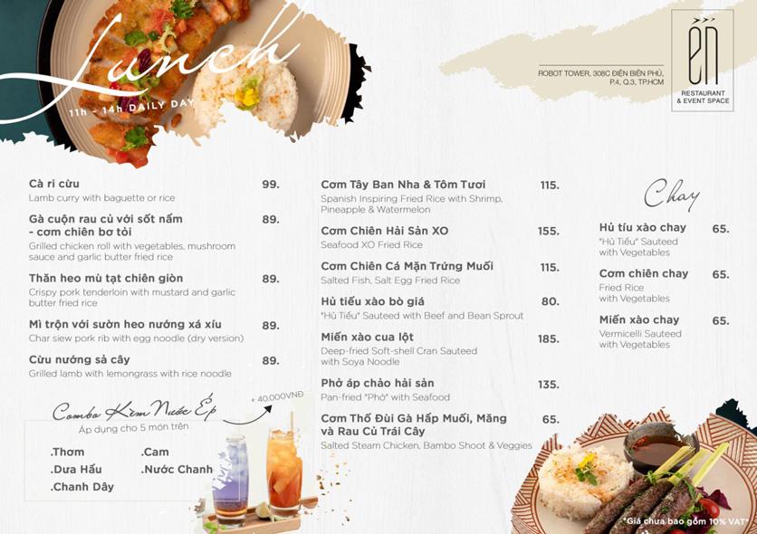 Menu Én Restaurant - Điện Biên Phủ  2