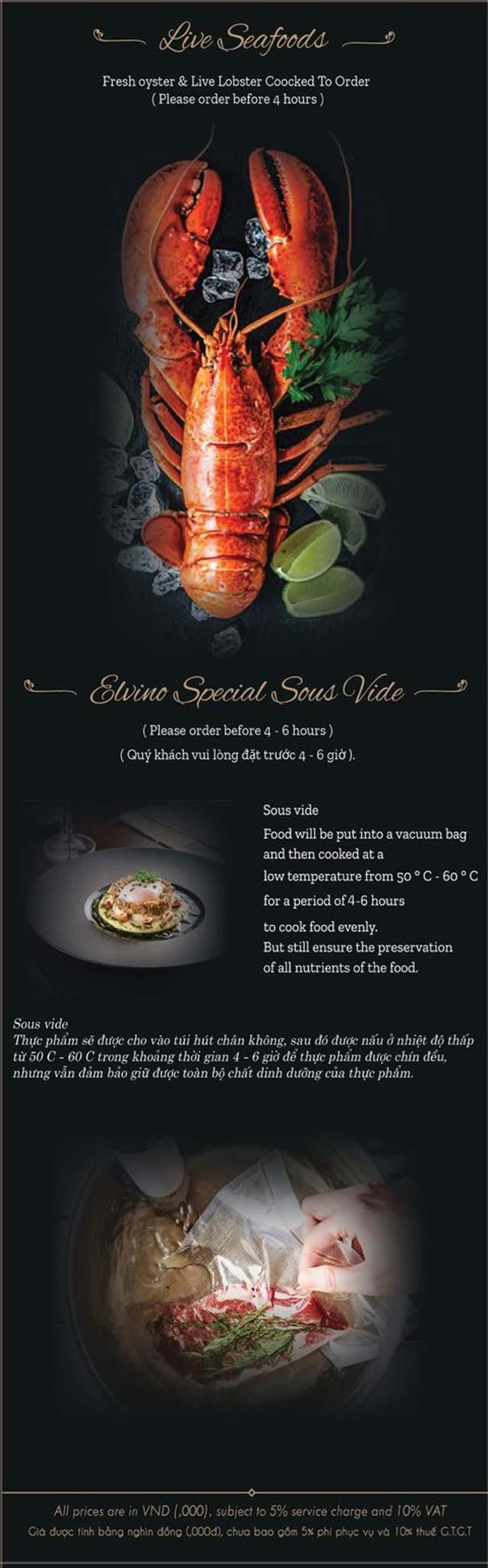 Menu El Vino Wine & Restaurant - Quảng An 4