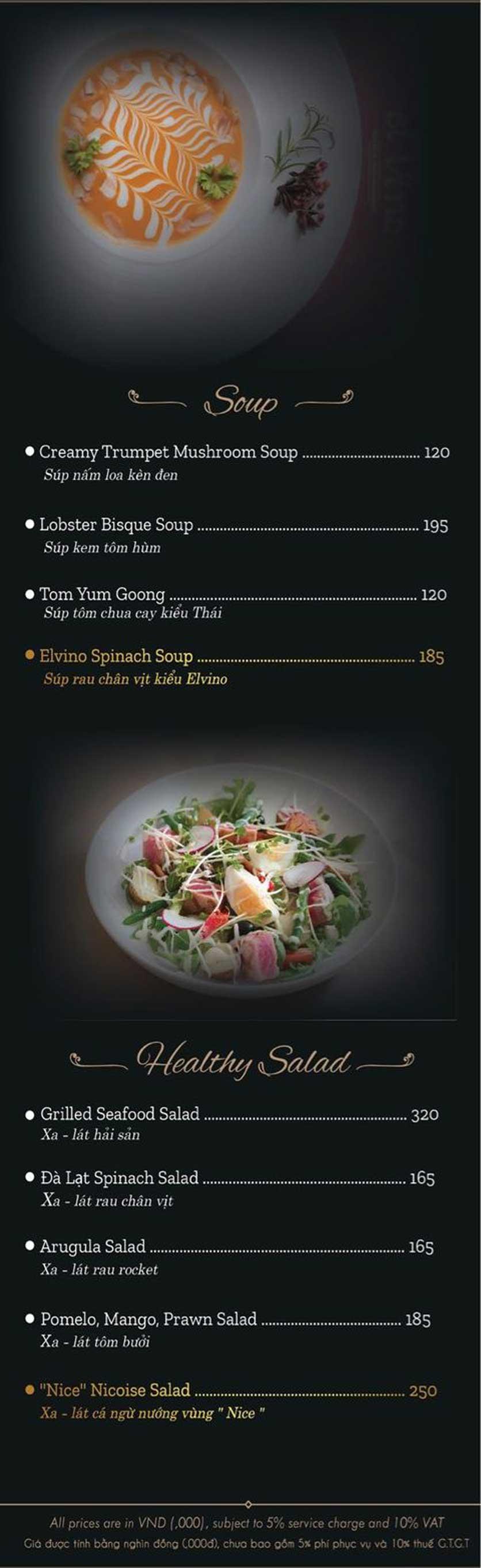 Menu El Vino Wine & Restaurant - Quảng An 6