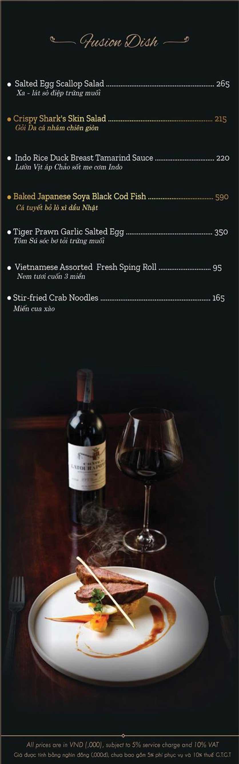 Menu El Vino Wine & Restaurant - Quảng An 10