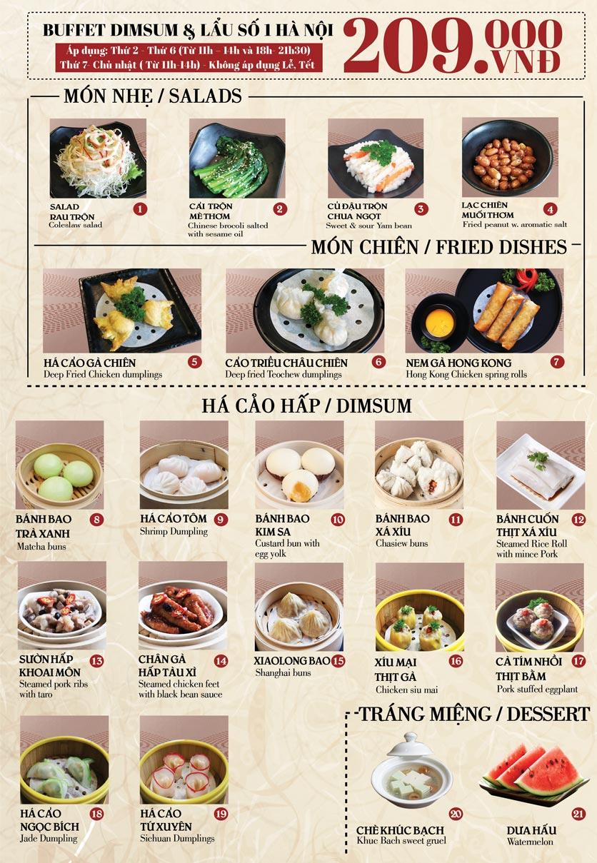 Menu Nhà hàng Dimsum & Lẩu Trung Hoa - FengHuang – Trần Kim Xuyến 1