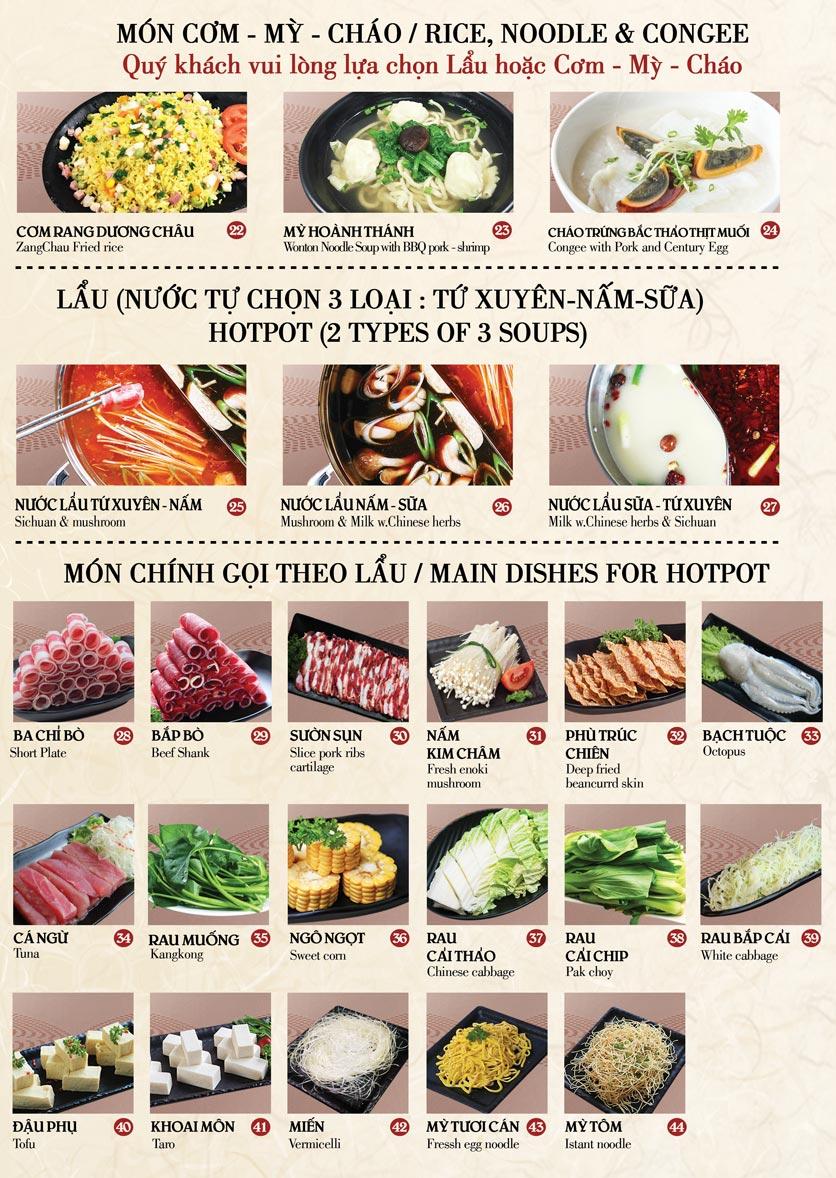 Menu Nhà hàng Dimsum & Lẩu Trung Hoa - FengHuang – Trần Kim Xuyến 2