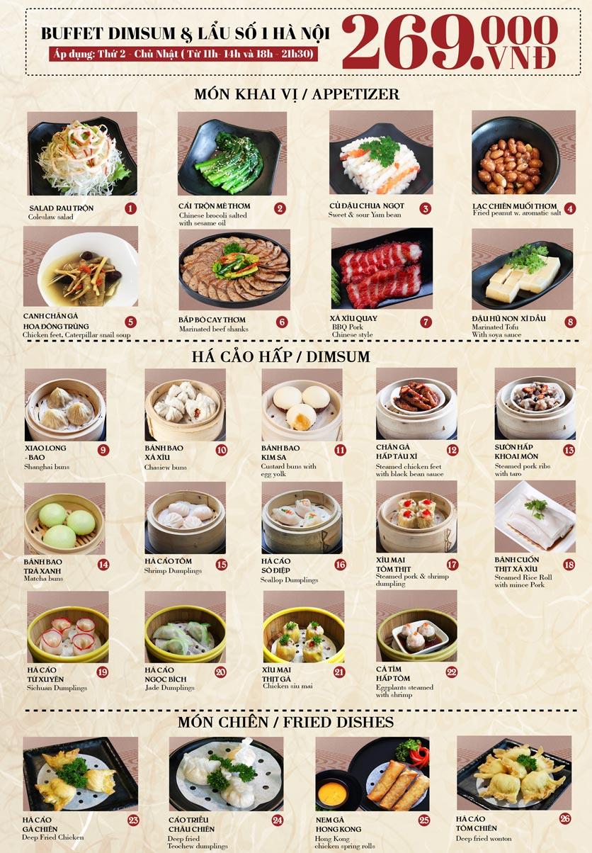 Menu Nhà hàng Dimsum & Lẩu Trung Hoa - FengHuang – Trần Kim Xuyến 3
