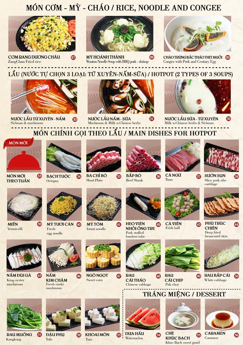 Menu Nhà hàng Dimsum & Lẩu Trung Hoa - FengHuang – Trần Kim Xuyến 4